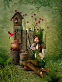 Birdhouse, 3d CG — Stock Photo