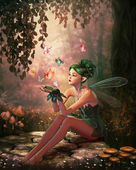 A Place of Butterflies, 3d CG — Stock Photo