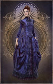 Purple Belle Epoque Gown, 3d CG — Stock Photo