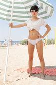 Spiaggia assolata — Foto Stock