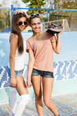 Young active women — Foto Stock