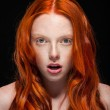 Wavy Red Hair — Stock Photo #16105515