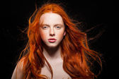 Wavy Red Hair — Stock Photo