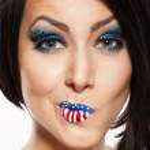 Woman beautiful face with perfect makeup — Stock Photo