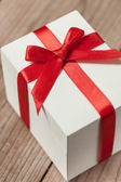 White gift box — Foto Stock