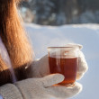 Winter tea — Stock Photo