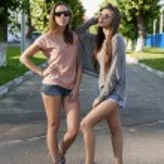 Women with skateboard — Stock Photo #20785015