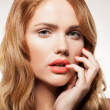 Beauty face of beautiful woman - Stock Photo
