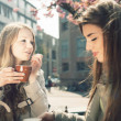 Stock Photo: Two women in a cafe