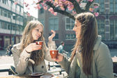 Two women in a cafe — Stockfoto