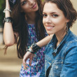 Stock Photo: Two beautiful and sensuality girls