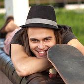 Giovane skateboarder — Foto Stock