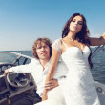 Fashion lovely beautiful couple — Stock Photo