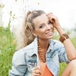 Summer Beauty Girl — Stock Photo