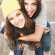 Two young hipster girl friends — Stock Photo #38250631
