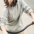 Young hipster girl with black bike — Stock Photo #48720845