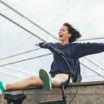 Happy hipster teenage girl — Stock Photo #48720965