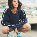 Hipster teenage girl — Stock Photo #48720975