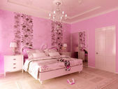 Teen girl's room — Stock Photo
