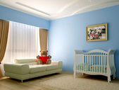 Blue baby room — Stock Photo