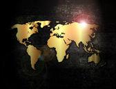 Mapa del mundo de oro — Foto de Stock