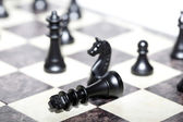 Chess figures - strategy and leadership concept — Stock Photo