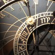 Old astronomical clock in Prague, Czech Republic — Photo