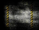 Under Construction with yellow stripes — Stock Photo