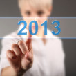 New 2013 year greeting concept made in original style, 2013, happy new year. — Stock Photo