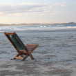 Beach wooden chair - isolated concept, Australia — Stock Photo