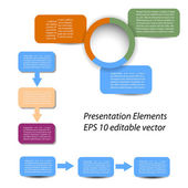 Vector set of Infographic and presentation elements for your documents and reports — Stock Photo