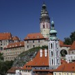 View of Cesky Krumlov (Czech Krumlov) - historical town, Czech republic, UNESCO - Stock Photo