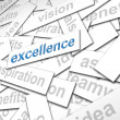 Excellence paper sign - finance concept — Stock Photo