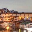 Florence, Italy - Ponte Vecchio over Arno River, Europe - Stock Photo