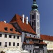 View of Cesky Krumlov (Czech Krumlov) - historical town, Czech republic, UNESCO - Foto de Stock