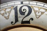 ポインターを移動すると古典的なレトロ古いさびた時計 — ストック写真