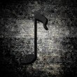 Grunge background with music note - Stock Photo
