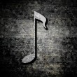 Grunge background with music note — Stock Photo