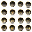 Set of golden vector icons in EPS10 - Stock Photo