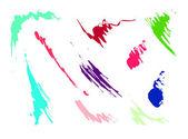 Set of grunge splash vector — Stock Photo