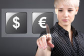 Commodity trading - currency trading dollar euro concept — Stock Photo