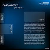 Stylish website template — Stock Photo