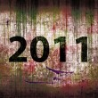 2011 Grunge background — Stock Photo