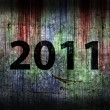2011 Grunge background - Stock Photo