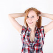Young redhead girl portrait — Stock Photo