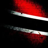 Aged textured Trinidad and Tobago national flag — Stock Photo