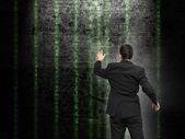 Businessman analysing source code — Stock Photo