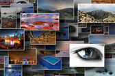 Collection of several stock photos — Stock Photo