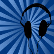 Blue Headphones Background — Stock Photo