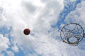 Basketball shot — Stock Photo